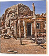 Old Navajo Stone House Wood Print