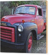 Old Nostalgic American Gmc Flatbed Truck . 7d9821 Wood Print