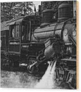 Old Number Three_climax Locomotive_durbin Wv _bw Wood Print