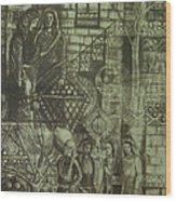 Old Oriental Story Wood Print
