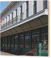 Old Pacific Hotel . San Jose California . 7d13019 Wood Print