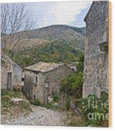 Old Perithia  Corfu  Greece Wood Print