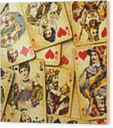 Old Playing Cards Wood Print