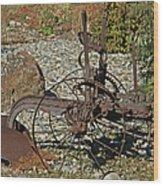 Old Plow Wood Print