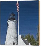 Old Presque Isle Light Station Wood Print