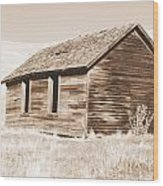 Old Ranch Hand Cabin Ll Wood Print
