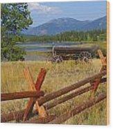 Old Ranch Wagon Wood Print