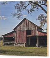 Old Red Barn  Wood Print