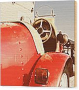 old Red Race Car Wood Print