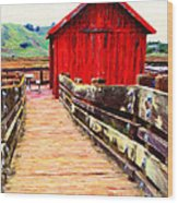 Old Red Shack Wood Print by Wingsdomain Art and Photography