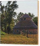 Old Round Barn Wood Print