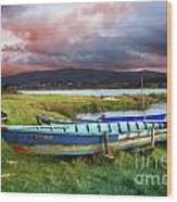 Old Row Boats Wood Print