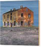 Old Ruined House Wood Print