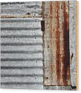 Old Rusty Sheet Metal Wood Print