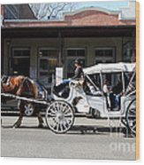 Old Sacramento California . Horse Drawn Buggy . 7d11482 Wood Print by Wingsdomain Art and Photography