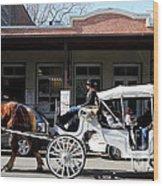 Old Sacramento California . Horse Drawn Buggy . Long Cut . 7d11482 Wood Print by Wingsdomain Art and Photography
