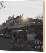 Old Sacramento California In Partial Silhouette . 7d11719 Wood Print