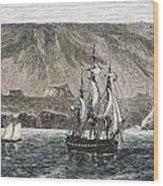 Old Sail Ships Galapagos Island Isabela Wood Print