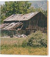 Old Saisia Barn In Spring Wood Print