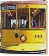 Old San Jose Railroads Cablecar Trolley 143 . San Jose California . 7d12963 Wood Print