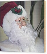Old Santa Claus Wood Print