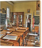 Old School II Wood Print by Diego Re