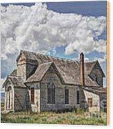 Old Schoolhouse - Ovid - Idaho Wood Print