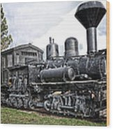 Old Shay Locomotive Wood Print