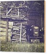 Old Shed Wood Print by Joana Kruse
