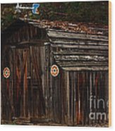 Old Shed Oakhurst Wood Print by Marjorie Imbeau
