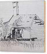 Old Shed Wood Print by Rod Ismay