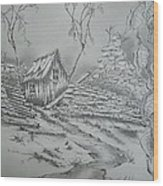 Old Shed Wood Print by Tom Rechsteiner
