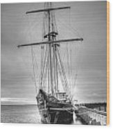 Old Ship Wood Print