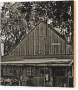Old Spanish Sugar Mill Old Photo Wood Print