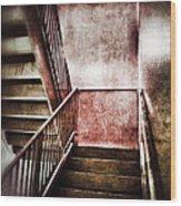 Old Stairwell Wood Print