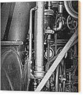 Old Steam Wood Print