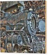 Old Steam Locomotive Wood Print