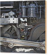 Old Steam Locomotive Engine 1258 . Wheels . 7d13000 Wood Print