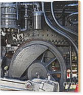 Old Steam Locomotive Engine 1258 . Wheels . 7d13001 Wood Print