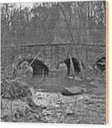 Old Stone Bridge Over The Unami Creek - Sumneytown Pa Wood Print