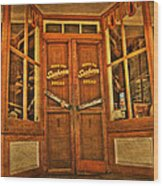 Old Store Front Wood Print