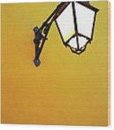 Old Street Lamp Wood Print