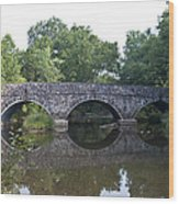Old Sumneytown Pike Bridge Over The Perkiomen Creek Wood Print