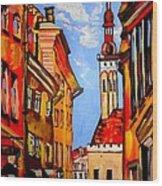 Old Tallinn Wood Print