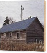 Old Time Barn From Days Gone By Wood Print
