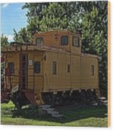 Old Time Caboose Wood Print