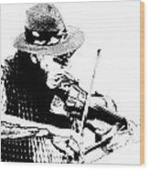 Old Time Fiddle Player No.560 Wood Print
