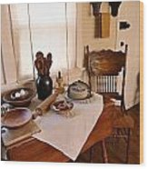 Old Time Kitchen Table Wood Print
