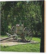 Old Time Pump Wagon Wood Print