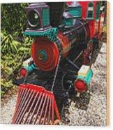 Old Time Train Wood Print